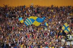 Passionés du football Images stock