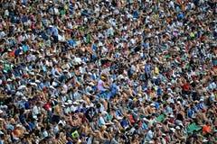 Passionés du football Photographie stock