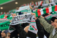 Passionés du football Photo libre de droits