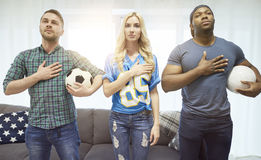 Passionés du football Photo stock