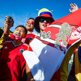 Passionés du football colombiens Image stock