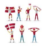 Passionés du football du Danemark illustration stock