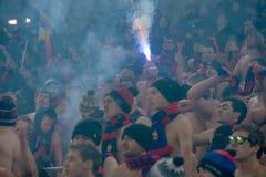 Passionés du football de CSKA sur le jeu de football Photos libres de droits