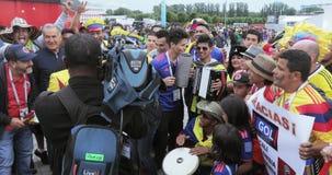 passionés du football de la Colombie banque de vidéos