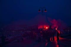 Passionés du football de Torcida Images libres de droits