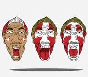 Passionés du football du Danemark illustration libre de droits