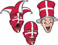 Passionés du football du Danemark Images libres de droits