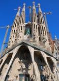 Passion. Front view of Sagrada Familia church in Barcelona Stock Image