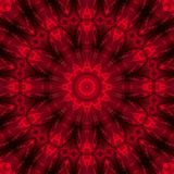 Passion. Red flower mandala Stock Photos