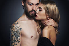 Passion beautiful couple.sexy woman and handsome man.lovely boy and girl Royalty Free Stock Images