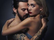 Passion beautiful couple.sexy woman and handsome man.lovely boy and girl Royalty Free Stock Photography