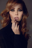 Passion beauty girl with make-u Stock Image