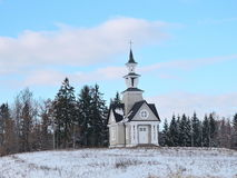 Passion Chapel , Lithuania. Passion Chapel in Rainiai town near the road going in Telsiai, Lithuania Stock Photo