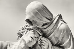 Passion of Christ. In front of the Basilica Notre-Dame de la Garde in Marseille, France Stock Photo