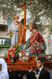 Passion of the Christ. Good Friday Easter procession, Malta. Stock Image