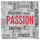 PASSION Concept Word Tag Cloud Design Royalty Free Stock Photography