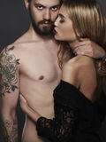 Passion couple.beautiful woman and handsome man.sexy boy and girl Stock Image