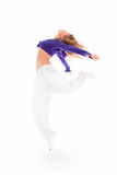 Passion in dance. Beautifull girl dancing on a white background Stock Photo