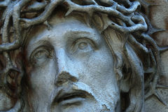 Passion de Jesus Christ, fragment de religion antique de statues, Image stock