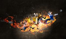 Passion and dynamics of the game royalty free illustration