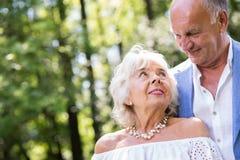 Passion et amour dans le mariage Photos stock