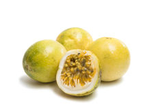 Passion Exotic fruit isolated Stock Images