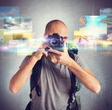 Passion för fotografi arkivbilder