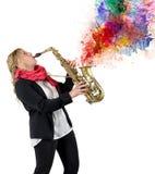 Passion för musik fotografering för bildbyråer