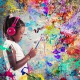 Passion för musik Royaltyfria Bilder