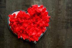 Passion för romans för förälskelse för hjärta för valentindag röd Arkivbild