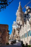 Passion Facade of the Basilica and Expiatory Church of the Holy Family. In Barcelona stock photo