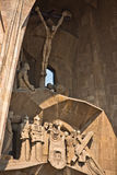 Passion facade (part) of Sagrada Familia Royalty Free Stock Photos