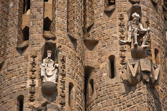 Passion facade (part) of Sagrada Familia Royalty Free Stock Images