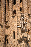 Passion facade (part) of Sagrada Familia Royalty Free Stock Image