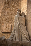Passion facade (part) of Sagrada Familia Stock Image