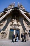 Passion facade of the Sagrada Familia Church. Royalty Free Stock Photo