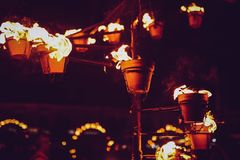 Passion of fire. `Passion of fire` is the opening show with which the French company Carabosse comes this year in Sibiu at FITS Sibiu International Theater stock photo