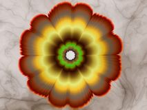 Passion flower. Fractal flower of passion on marble background Royalty Free Stock Photos