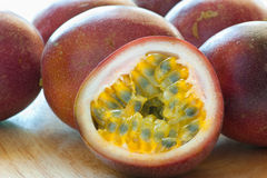 Passion Fruit. Close up of fresh passion fruit Stock Photos