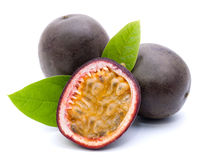 Passion fruit. On white ground Royalty Free Stock Images