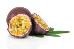 Passion fruit. Isolated on a white background Stock Images