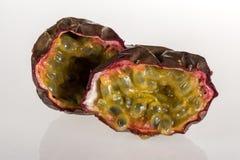 Passion fruit. Isolated on white background Stock Photo