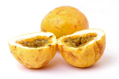 Passion Fruit. Fresh and Slice Passion Fruit on white Royalty Free Stock Photo