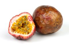 Passion fruit. A studio photo of a passion fruit royalty free stock image
