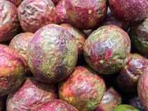 Passion Fruit background, Fruit in the market. royalty free stock photo