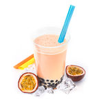 Passion Fruit Boba Bubble Tea Royalty Free Stock Photo