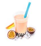 Passion Fruit Boba Bubble Tea royalty free stock photo