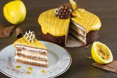 Passion Fruit Cake Stock Photo