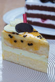 Passion fruit cake Royalty Free Stock Photos