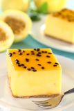 Passion Fruit Cheesecake Stock Photos